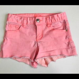 Justice Denim Shorts Coral Size 10